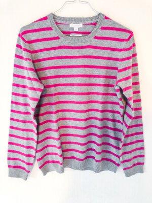 Grau- Pink melierter Pullover