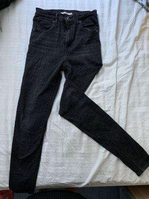 Levi's Jeansy z wysokim stanem szary-czarny