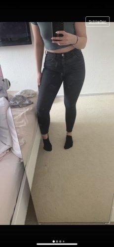 Grau/schwarze Topshop-Jeans