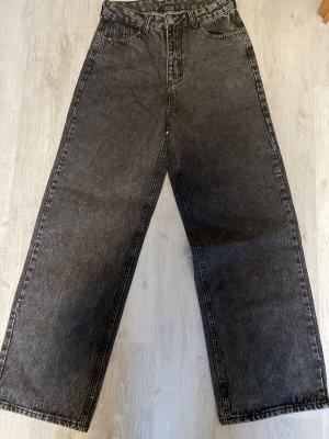 SheIn Jeans larghi grigio-nero