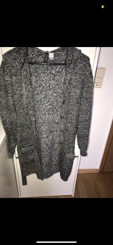 H&M Cárdigan de punto grueso negro-gris