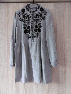 Grau-schwarzes Blusenkleid Zara