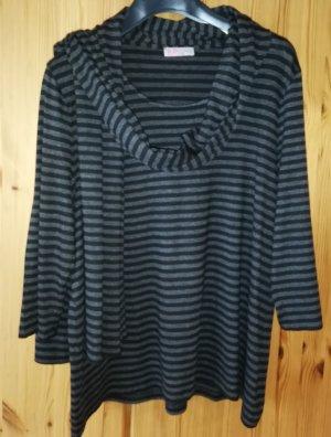 Uta Raasch Stripe Shirt black-dark grey