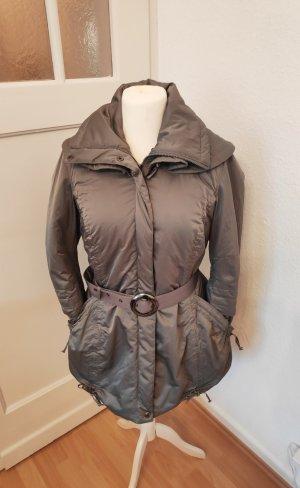 Grau silber Parker Jacke Mantel Apanage Größe 42