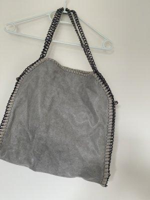 Grau/silber Schultertasche