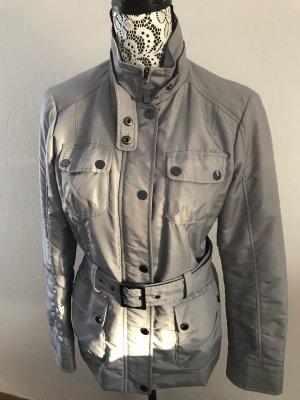 Grau-silberne Übergangsjacke von Esprit Collection Gr. 36