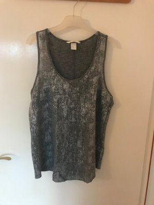 H&M A Line Top anthracite-light grey