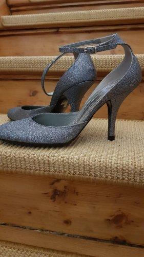 Fornarina Sandales à talons hauts et lanière argenté-gris clair