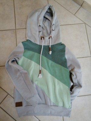 grau-türkiser Pullover Sublevel