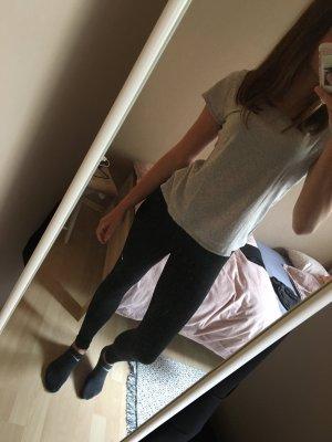 H&M T-shirt jasnoszary-biały