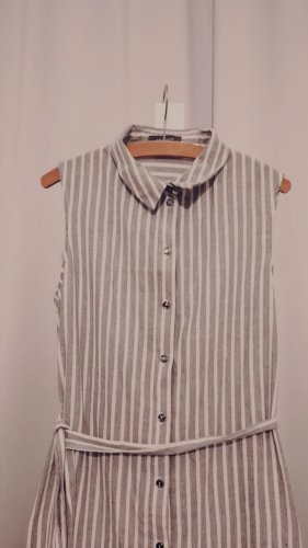 grau-weiß gestreifte Bluse