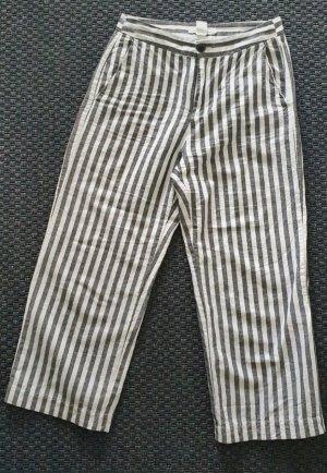 Grau/weiß gestreifte Culottes