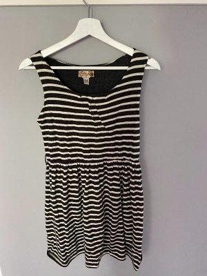 Grau/weiß gestreiftes Kleid von Khujo, Gr. M