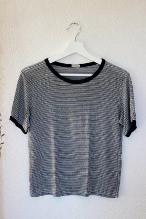 Grau weiß gestreiftes Shirt Brandy Melville John Galt 36 S One Size