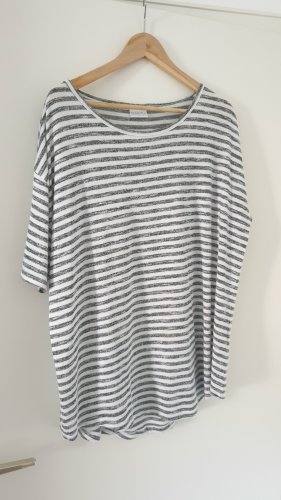 Grau-weiß gestreiftes Shirt von Infinity woman