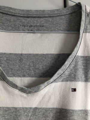 Grau weiß gestreiftes T-Shirt Tommy Hilfiger