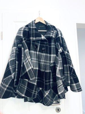 Grau weiß karierte Mantel/ Poncho/ Caban v Zara Basic Gr. M/38