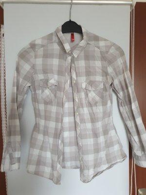 Grau/Weiß kariertes Hemd