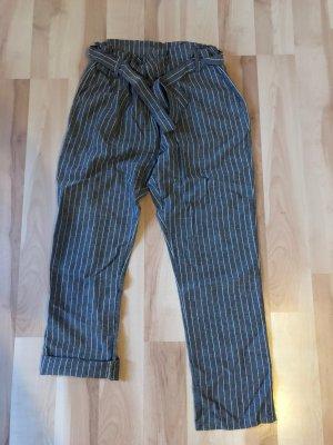 SheIn Pantalon en velours côtelé gris-blanc