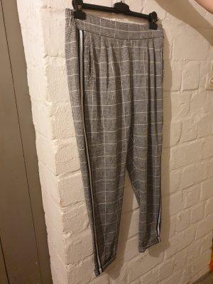 #grau-weiße karierte Hose #grau-weiße Gerade geschnittene Hose #Reserved