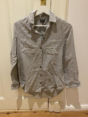 Grau-weiße Topshop Bluse