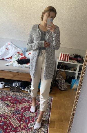 Grau-weißer cardigan