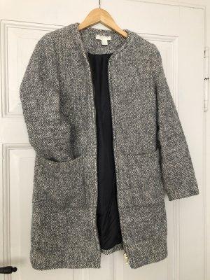 Grau-weißer Mantel von H&M