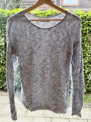 Grau-weißer Pullover von Abercromie