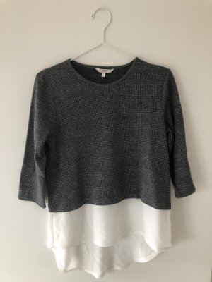 Grau-Weißes Langarmshirt
