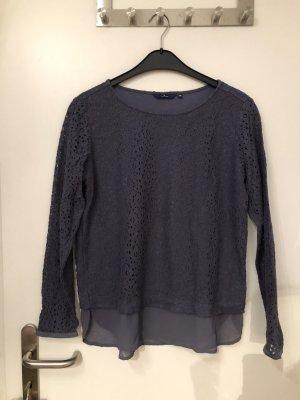 Graublaue Bluse/Pullover