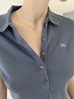 graublaues Lacoste Poloshirt, Gr. 38 (franz. Originalgröße 40)