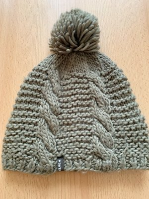 Barts Knitted Hat grey brown