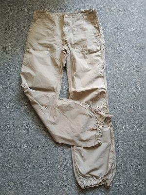 H&M Divided Pantalone cargo beige chiaro-beige Cotone