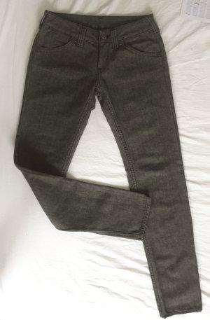 Graubraune Röhrenhose mit Taschen von Replay W 27 / L 32 NEU