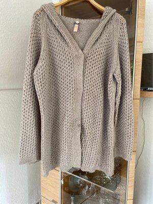 Laurèl Giacca in maglia marrone-grigio