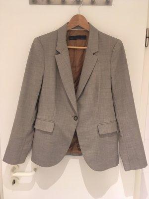 Graubrauner Blazer von Zara in Größe 38 (L)