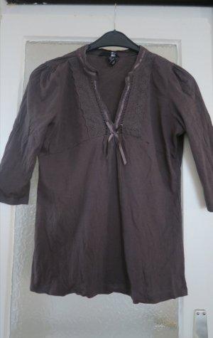 Graubraunes 3/4 Arm Shirt