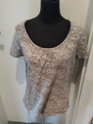 Graubraunes Shirt mit Muster von Yessica in Größe M