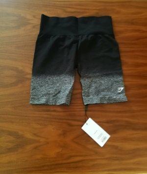 GYMSHARK Pantalón corto deportivo negro-gris