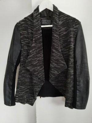 New Look Blazer en maille tricotée gris-gris foncé