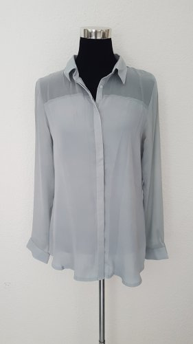Graue Bluse/Hemd