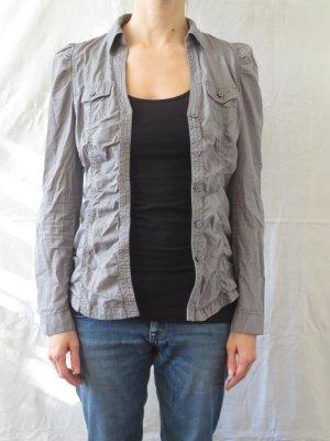 graue Bluse mit Raffungen der Marke 'edc' in Größe S