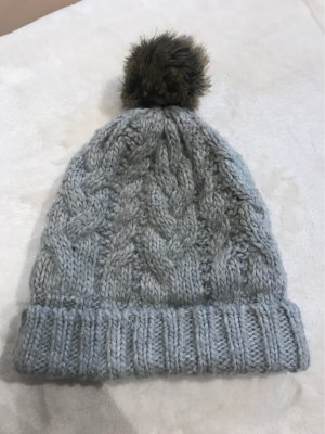 H&M Knitted Hat grey-light grey
