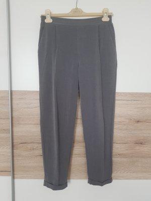 Pull & Bear Pantalón de pinza alto gris-gris oscuro
