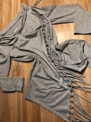 Chaqueta estilo camisa gris-gris claro