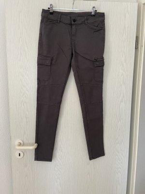 Graue Cargo Clockhouse Stretch Jeans