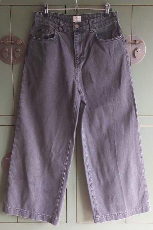 French Connection Jeans a vita alta grigio Cotone