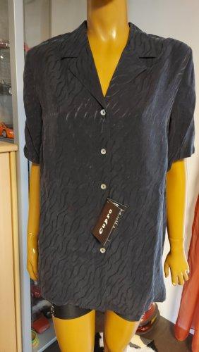 graue Damen Bluse Größe 44
