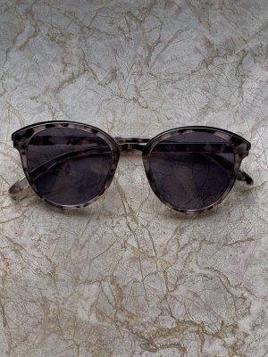 Owalne okulary przeciwsłoneczne antracyt-czarny