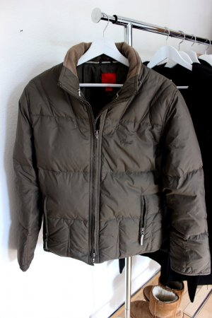 Graue Daunen Jacke Esprit 38 40 M gefüttert warm Winter